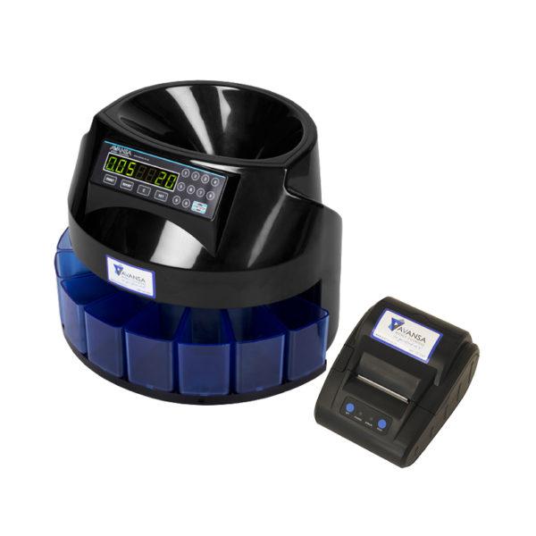 AVANSA Super Coin 1100 Coin Counter with printer right preview