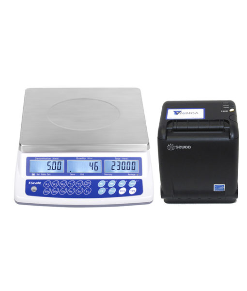 AVANSA Bulk Coin Scale 4600 Coin Counter with Printer